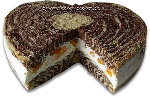 Zebraherz Zebrakuchen Lecker Backen Rezepteblog