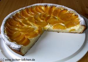 Pfirsich Quarkkuchen